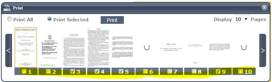 Select the pages you want to print.
