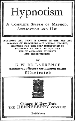 DE LAURENCE - Science of hypnotism