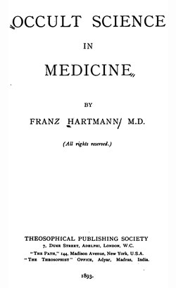 HARTMANN Occult Science in Medecine