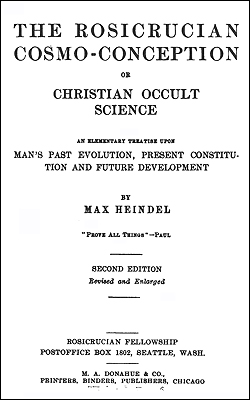HEINDEL - Rosicrucian Cosmo-Conception