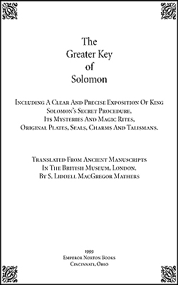 MATHERS - Greater Key of Solomon Vol-1