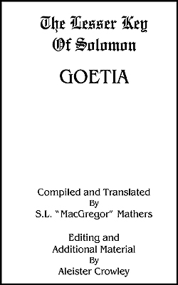 MATHERS - Lesser Key Salomon-1 Goetia