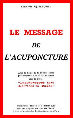 VANRIJCKEVORSEL-Message de l'Acuponcture