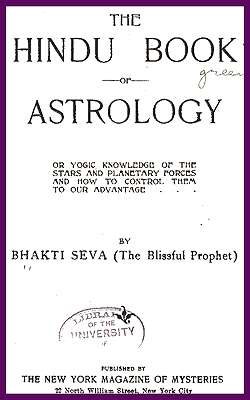 BHAKTI SEVA - The Hindu Book Astrology