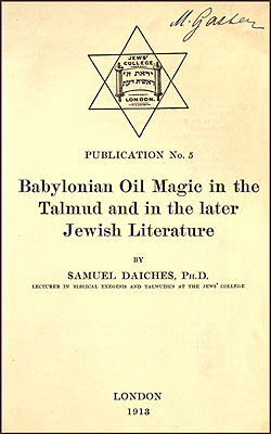 DAICHES - Babylonian Oil Magic