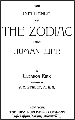 KIRK - Influence of the Zodiac upon