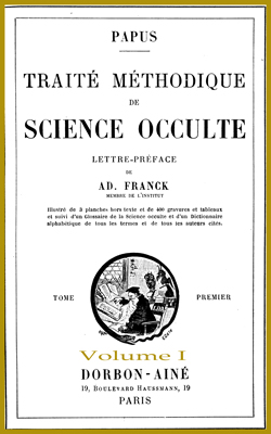 Traité Méthodique de Science Occulte-T1-V1