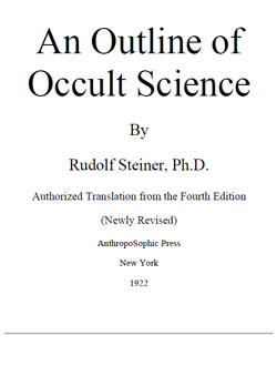 STEINER – An Outline of Occult Science