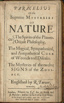 PARACELSUS - Supreme Mysteries of Nature