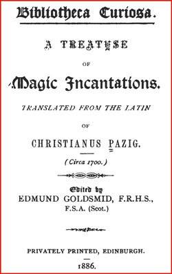 Treatise Magickal Incantations